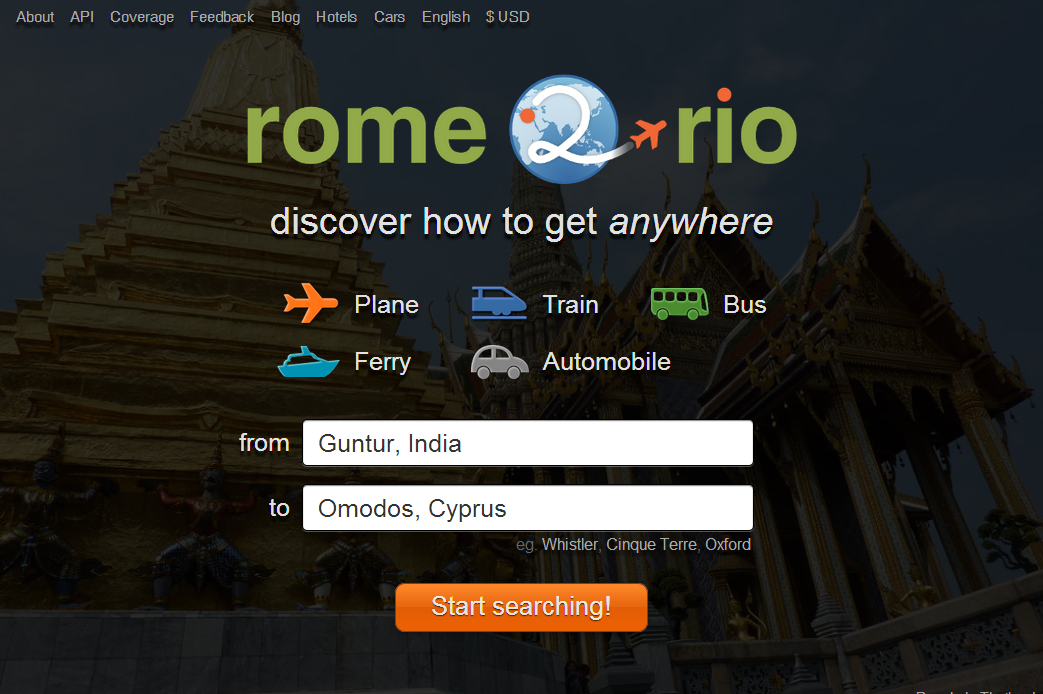 rome2rio discover how to get anywhere