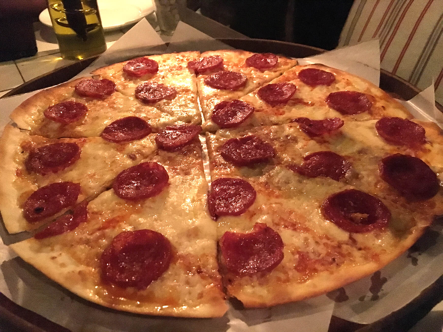 Double Cheese Pepperoni Pizza at Olive Bistro, Jubilee Hills, Hyderabad – Review